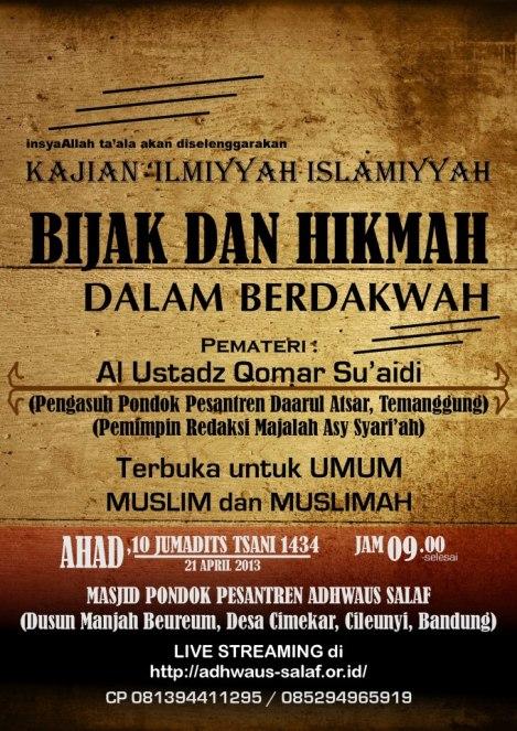dauroh-Ustadz-Qomar Bandung
